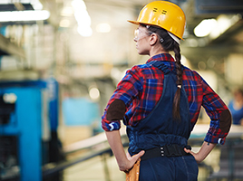 Manufacturing Process engineer woman